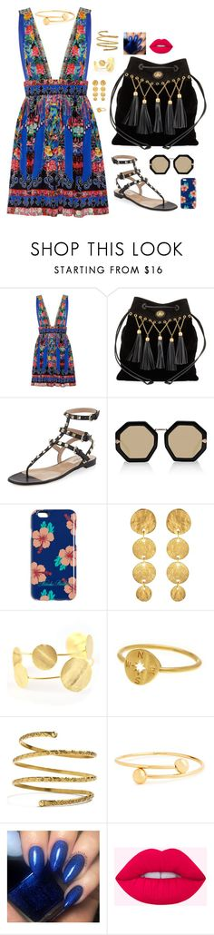 """""""Untitled #1318"""" by nine-nine ❤ liked on Polyvore featuring Camilla, Miu Miu, Valentino, Karen Walker, Brooks Brothers, Kenneth Jay Lane, Dogeared, Venus and J.W. Anderson"""