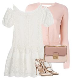 """Untitled #399"" by moniquitabl on Polyvore featuring RED Valentino, Ermanno Scervino, MICHAEL Michael Kors and Valentino"