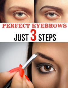 perfect eyebrows in just 3 steps