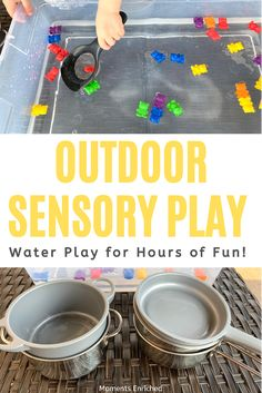 This quick and easy activity will keep your child entertained for ages! It can be done outside in the sunshine or taken inside when the weather is less than ideal. Grab whatever tools you have at home and let your littles work their fine motor muscles by making teddy soup over and over again! Check it out here! #sensorybin #sensoryplay #imaginativeplay #invitationtoplay #openendedplay #finemotorskills #finemotoractivity #playathome #preschoolactivity #preschoolathome #waterplay Toddler Fine Motor Activities, Outdoor Water Activities, Preschool Activities, Sensory Bins, Sensory Play, Stages Of Play, Preschool At Home, Water Play, Dramatic Play