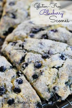 Gluten-Free Blueberry Scones Gluten-free Blueberry Scones. These are a favorite with my kids! They're kind of like a dessert - but without lots of sugar!