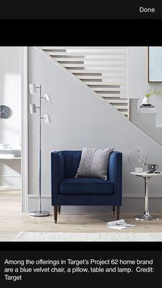 Project 62 Target Blue Velvet Chair