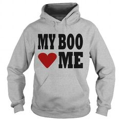 White My Boo Heart Me Men Mens Long Sleeve T Shirt by Next Level