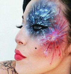 Firework face paint design #fireworks #Snazaroo #bonfirenight