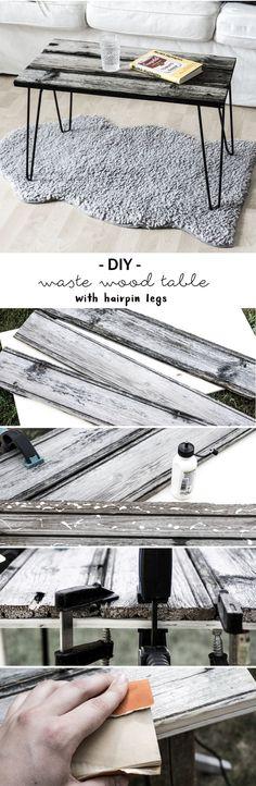 DIY Tisch aus Altholz mit Hairpin Legs, Do it Yourself Idee | Anleitung | Tutorial | crafting | wood | Beistelltisch | Möbel selber bauen | Deko | Basteln| nachhaltiges Upcycling | schereleimpapier | handgemacht | Tutorial | furniture | waste wood | Recycling | Einrichtung | Interior | Wohnzimmer | living room
