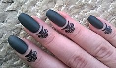 GleeTree92: Lady Queen: Nail-Cuticle Tattoo Stickers: Review   http://www.ladyqueen.com/1-sheet-black-unique-nail-tattoo-pattern-nail-stickers-finger-tattoo-na0596.html
