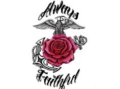 Made this for a marine wife tattoo <3  maybe just the globe instead of the rose.. Cute Idea for those who are into tatoos