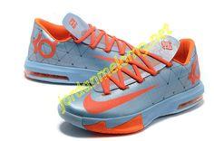 5ab604cb43b1 Nike KD VI Ice Blue Total Orange 554988 003 Nike Kd Vi