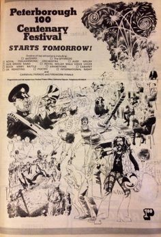 Peterborough 100 Centenary Festival poster, March 1974