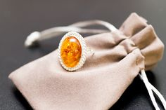 Spectacular Floral Amber Adjustable Ring, baltic amber, sterling silver, amber, jewelry, amber jewellery, classic amber ring, amber, ring by BalticBeauty925 on Etsy