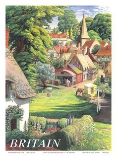 vintage Britain travel poster