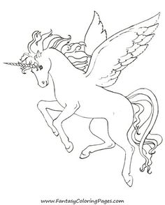 free coloring pages pegasus and unicorns
