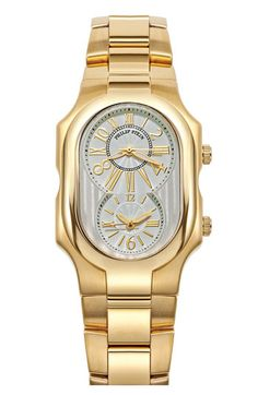 Philip Stein® 'Signature' Large Gold Watch Case | Nordstrom MY NEW WATCH :)