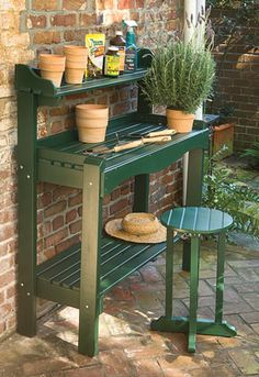 26 Perfect Garden Bench Designs That Will Delight The Whole Family - Decor, Wood, Outdoor Sinks, Potting Bench Plans, Perfect Garden, Pallets Garden, Bench Designs, Table, Wood Diy