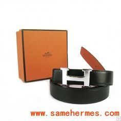 46a6df842235 Classic Hermes light silver H buckle belt black and orange  99 Ceinture,  Ceinture Hermes Femmes