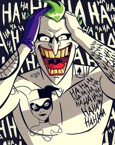 The Joker From The Animated Series Suicide Squad Film Style Joker Und Harley Quinn, Joker Dc, Dc Comics Art, Marvel Dc Comics, Joker Kunst, Jokers Wild, Batman Universe, Comic Character, Gotham City