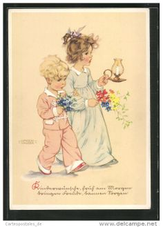 Postcards > Topics > Illustrators & photographers > Illustrators - Signed > Hausen, Lungers - Delcampe.net