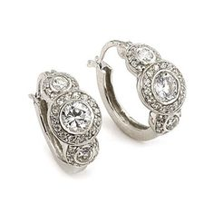 Love love love these Helena's Triple Round CZ Sterling Silver Antique Earrings