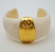 Vintage Chanel Faux Ivory Cuff  (✿◠ ‿◠) .¸.♥☆to go with my handbag