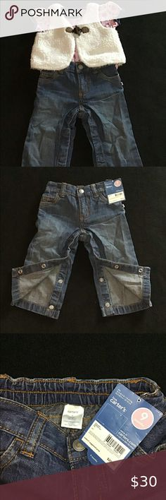 Bnwt NEXT Girls Fantastic Leopard Animal Print Jeans Adjustable waist 4-5 yrs