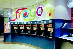 Self-serve froyo station design