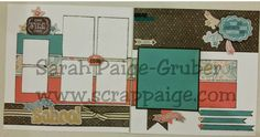 www.scrappaige.com Close to my heart Chalk it Up layout 1 #ctmh, #scrapbooking, #papercrafting