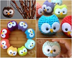 Crochet Diy DIY Crochet Baby Owl Ornaments More - Looking for something to decorate your home? How about these cute Crochet Baby Owl Ornaments? This project is easy and amazingly cute. Crochet Diy, Crochet Owls, Crochet Animals, Crochet Crafts, Crochet Projects, Tutorial Crochet, Diy Projects, Crochet Ideas, Diy Tutorial