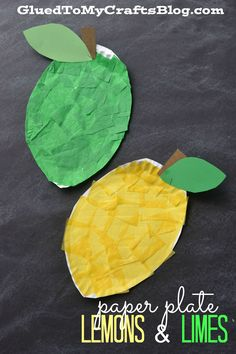 Paper Plate Lemon & Lime - Kid Craft Make small limes for each child. Since they're less tissue paper to complete