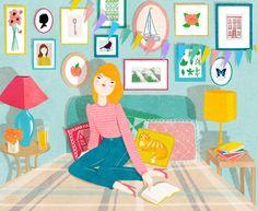 Tiempo de lectura (ilustración de Kris Atomic)