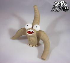 Nuclear Baby Elephant by Dee Raa Arts polymer clay cute kawaii sculpey fimo https://www.facebook.com/DeeRaaArts
