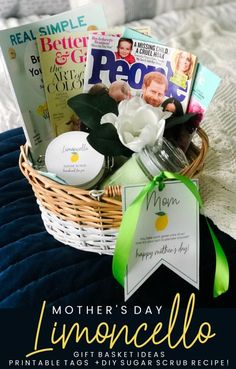 Mother's Day Gift Basket Ideas, Printable Gift Tags + DIY Limoncello Sugar Scrub Recipe (Tatertots and Jello) Sugar Scrub Recipe, Sugar Scrub Diy, Easy Gifts, Homemade Gifts, Mother's Day Gift Baskets, Gift Tags Printable, Printing Labels, Happy Mothers, Mother Day Gifts