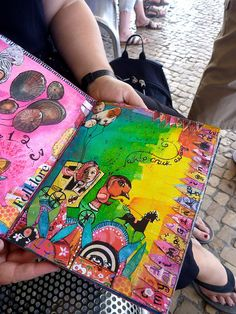 pages made during teesha and tracy's class in portugal