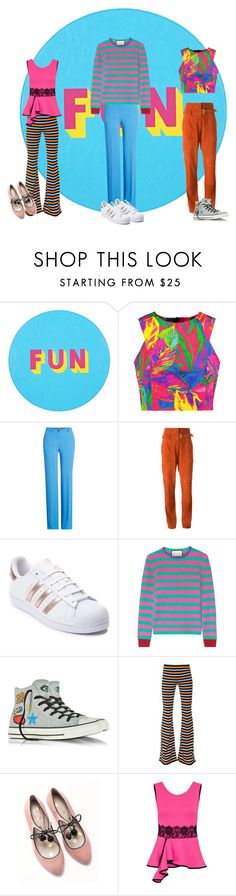 """""""Just have fun"""" by fanzita ❤ liked on Polyvore featuring Lisa Perry, Milly, Roberto Cavalli, Vanessa Bruno, adidas, Gucci, Converse, Moschino, Boden and Dorothy Perkins"""