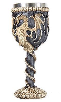Medieval Dragon Skeleton Ossuary Goblet Wine Chalice Resin Body Stainless Steel Bellaa http://www.amazon.com/dp/B00V7BXU6M/ref=cm_sw_r_pi_dp_UVIFvb1H9K2PB