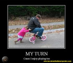 Demotivational poster: my turn