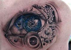 Steampunk eye tattoo - 25 Awesome Steampunk tattoo designs <3 <3
