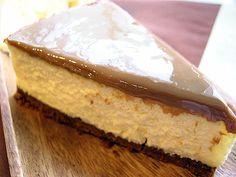 Cheesecake light de dulce de leche