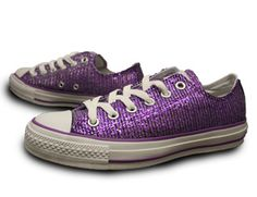 Purple sparkle converse definitely show the Relay spirit in style!
