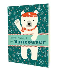 Look at this #zulilyfind! Vancouver Polar Bear Folded Holiday Card - Set of 10 by Night Owl Paper Goods #zulilyfinds