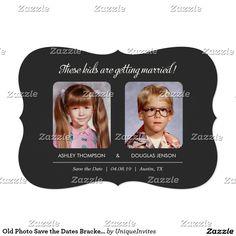 Old Photo Save the Dates Bracket Die-Cut