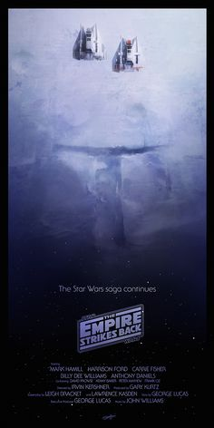 Star Wars Episode V - The Empire Strikes Back poster by Any Fairhurst | #starwars