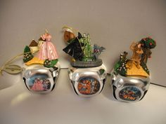 Wizard of Oz Sleigh Bells Ornaments-New-2007-Set #2-Ashton Drake-set of 3