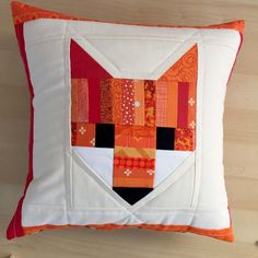 scrappy fancy fox pillow cover