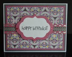 Handmade Elegant and Simple Birthday Card-Happy Birthday Card with White, Pink and Gray by TreasureIslandCards on Etsy
