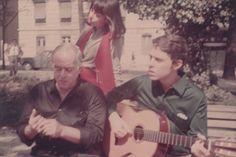 1969, Chico, Nara e Vinicius de Moraes em Roma.