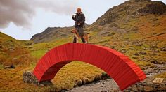 steve messam paperbridge cumbria UK designboom 'paperbridge' was created with 20,000 sheets of paper and four tons of stone