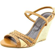 BURBERRY Burberry Effingham Women Open Toe Leather Tan Wedge Sandal. #burberry #shoes #shoes