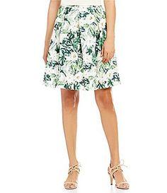 Antonio Melani Lila Floral Printed Novelty Skirt