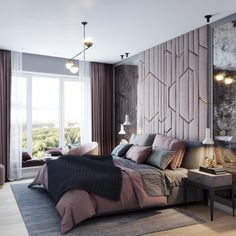 Looking for inspiration to create a new interior design for your home? Want to know what new modern trends? In this article I will talk about the most important changes in the fashion industry of inte Modern Luxury Bedroom, Luxury Rooms, Modern Bedroom Design, Master Bedroom Design, Luxurious Bedrooms, Bedroom Setup, Home Decor Bedroom, Bedroom Sofa, Flat Interior Design