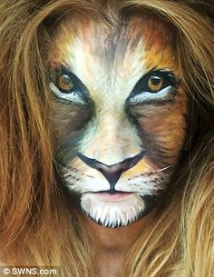 Make-up Artist Turns Herself Into Fantasy Characters With £1 Face Paint and Old Eyeshadow